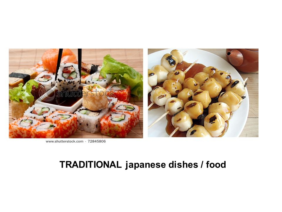 TRADITIONAL japanese dishes / food
