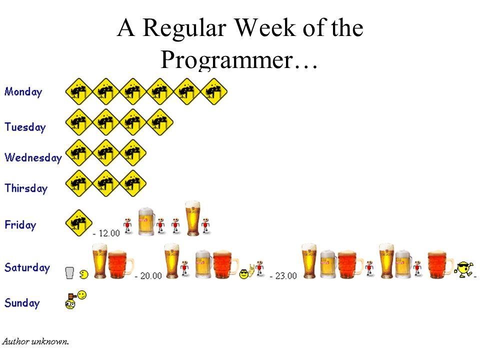 A Regular Week of the Programmer…