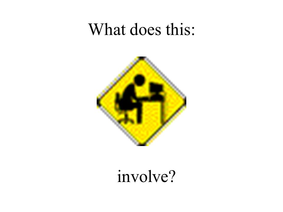 What does this: involve?