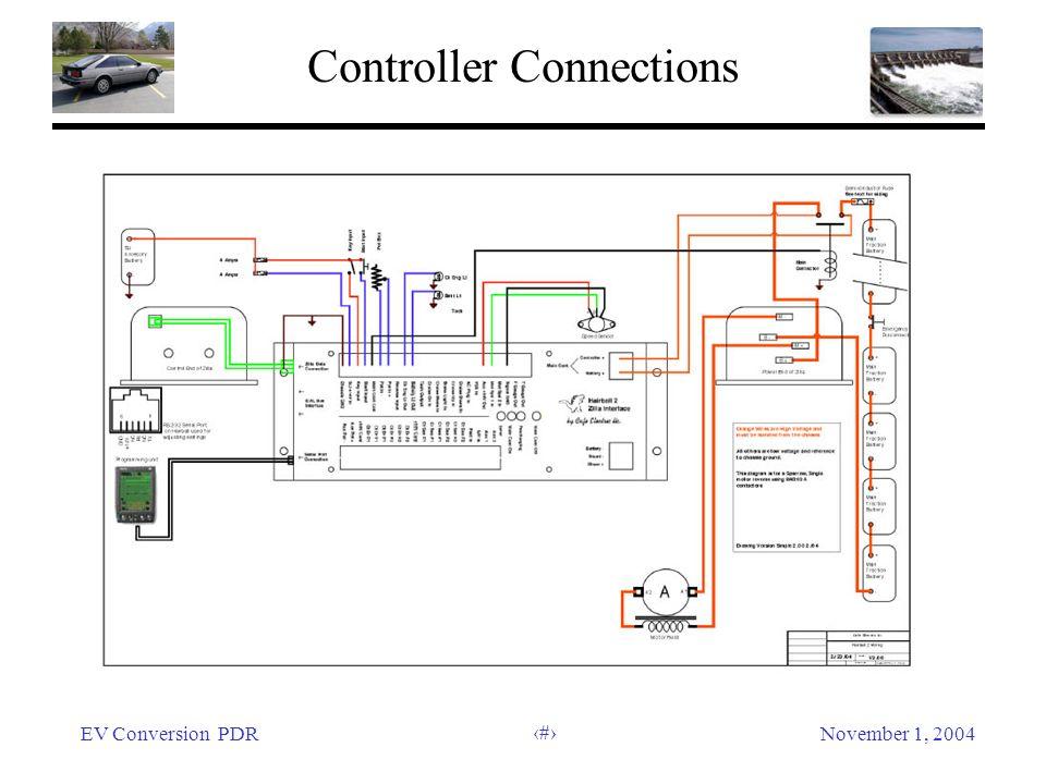 EV Conversion PDRNovember 1, 2004 33 Controller Connections