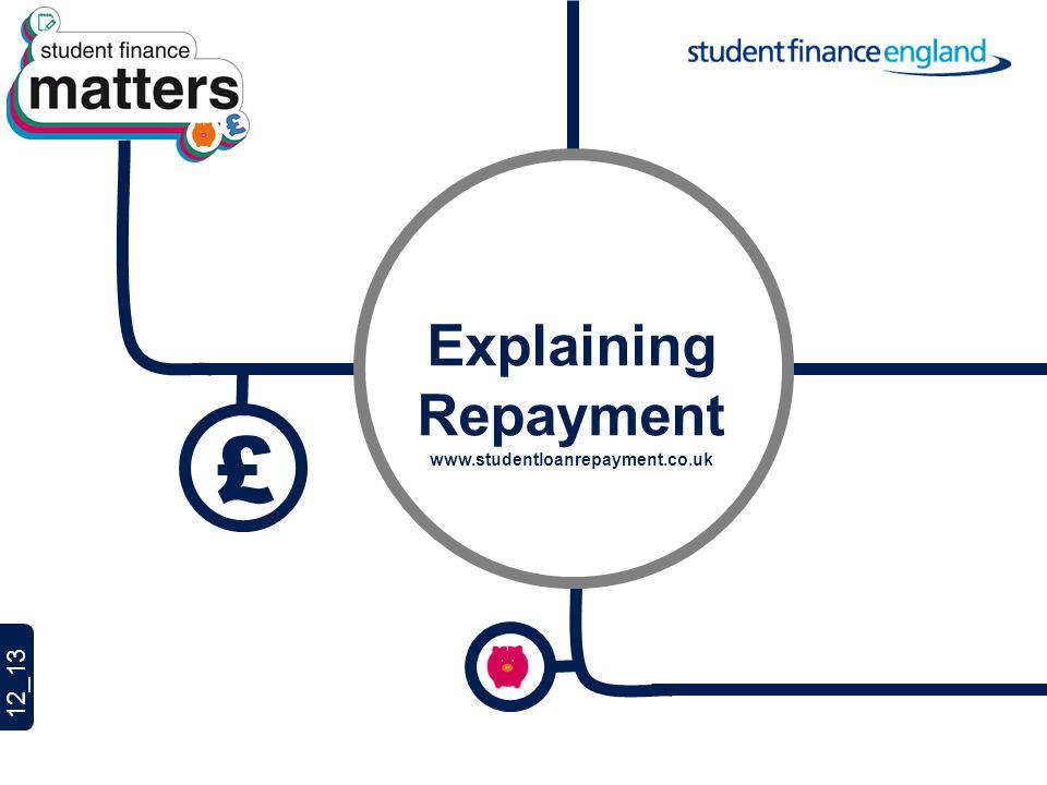 £ Explaining Repayment www.studentloanrepayment.co.uk
