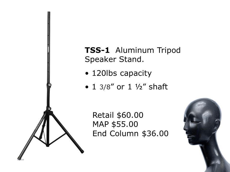 TSS-1 Aluminum Tripod Speaker Stand.