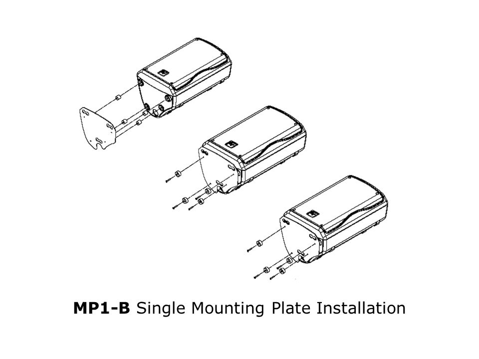 MP1-B Single Mounting Plate Installation