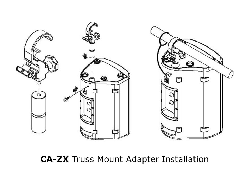 CA-ZX Truss Mount Adapter Installation