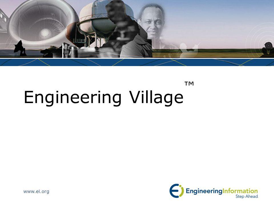 www.ei.org Engineering Village