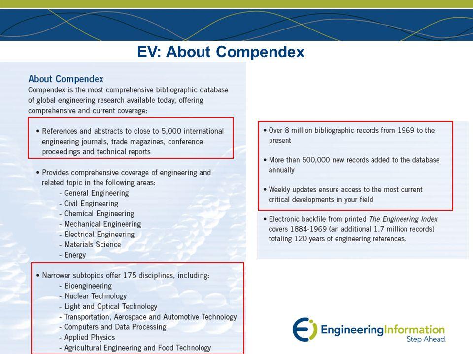 www.ei.org EV: About Compendex
