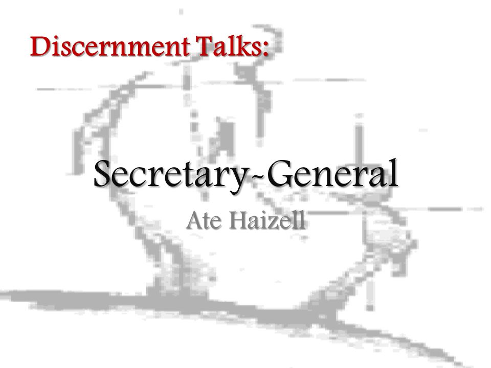 Secretary-General Ate Haizell Discernment Talks: