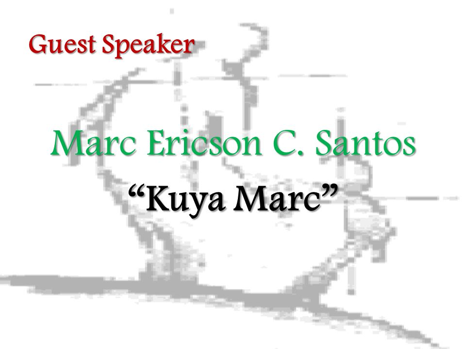 Guest Speaker Marc Ericson C. Santos Kuya Marc