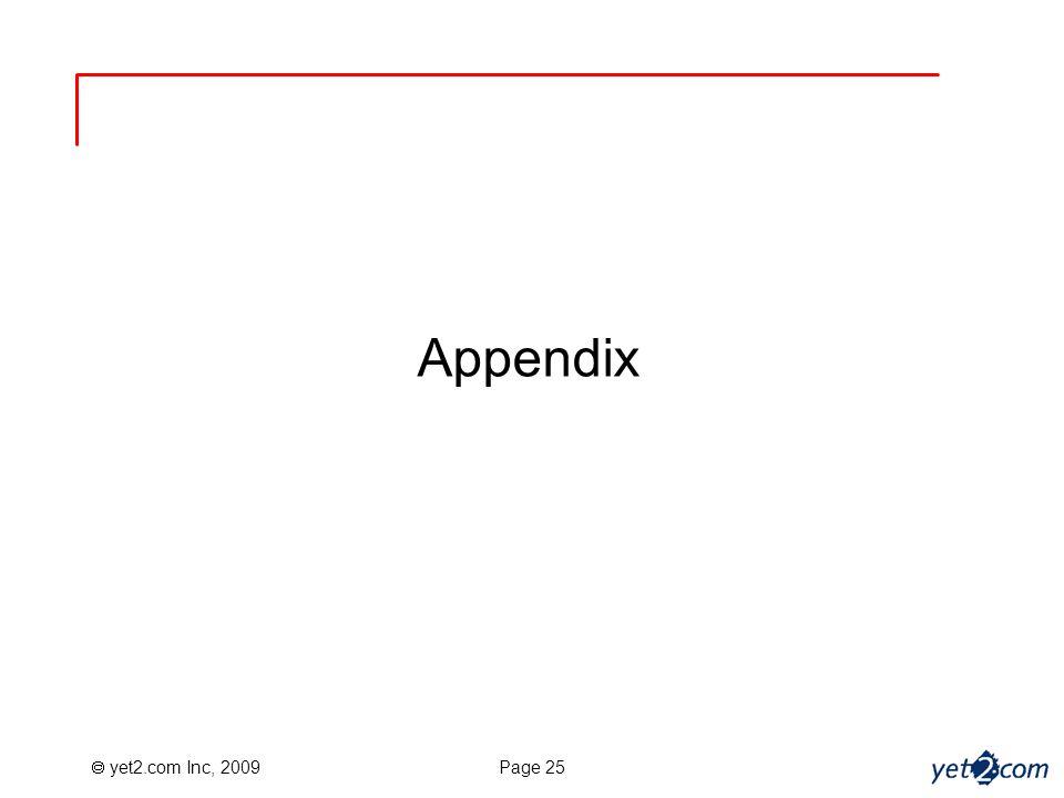 yet2.com Inc, 2009 Page 25 Appendix