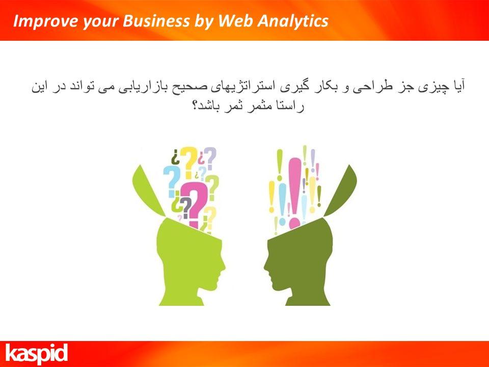 Improve your Business by Web Analytics آیا چیزی جز طراحی و بکار گیری استراتژیهای صحیح بازاریابی می تواند در این راستا مثمر ثمر باشد؟