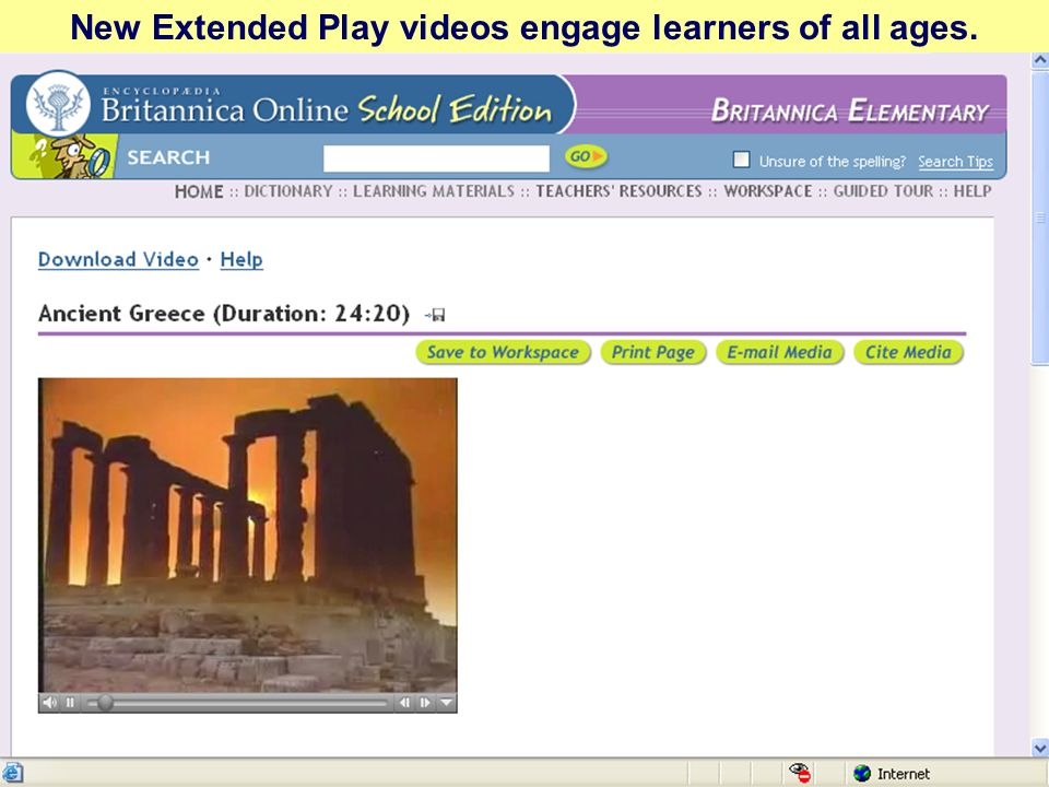 New Extended Play videos engage learners of all ages.