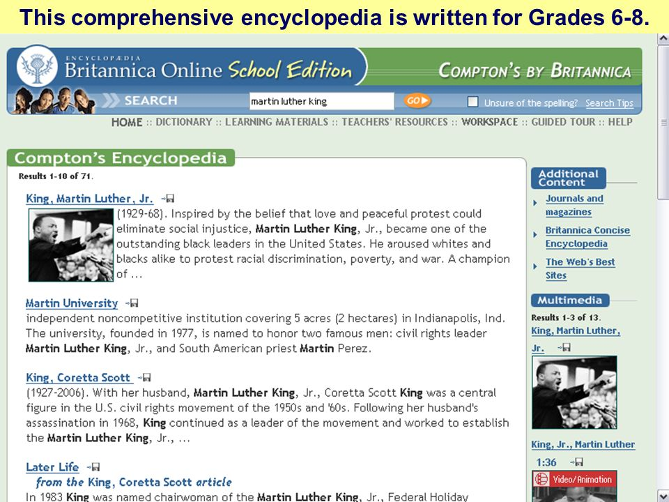 This comprehensive encyclopedia is written for Grades 6-8.