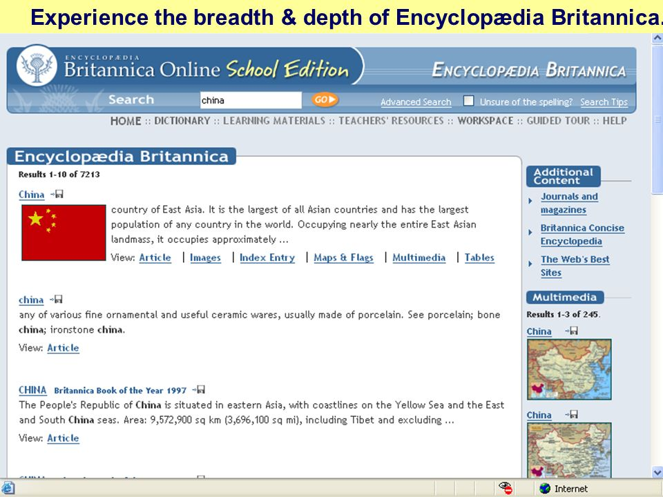 Experience the breadth & depth of Encyclopædia Britannica.