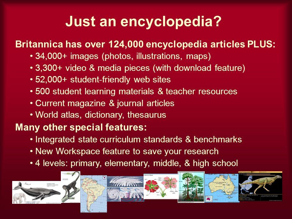 Just an encyclopedia.
