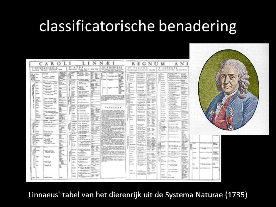 classificatorische benadering Linnaeus' tabel van het dierenrijk uit de Systema Naturae (1735)