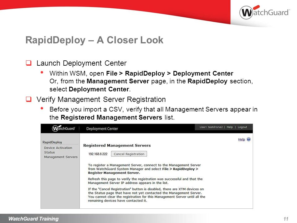 RapidDeploy – A Closer Look Launch Deployment Center Within WSM, open File > RapidDeploy > Deployment Center Or, from the Management Server page, in t