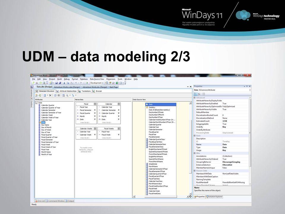 UDM – data modeling 2/3