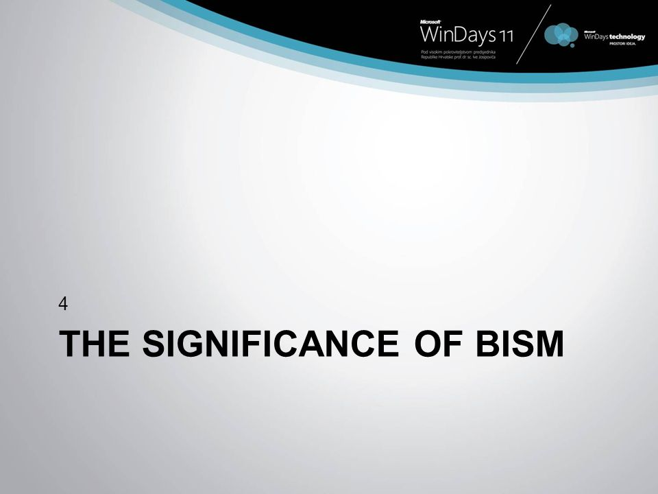 THE SIGNIFICANCE OF BISM 4