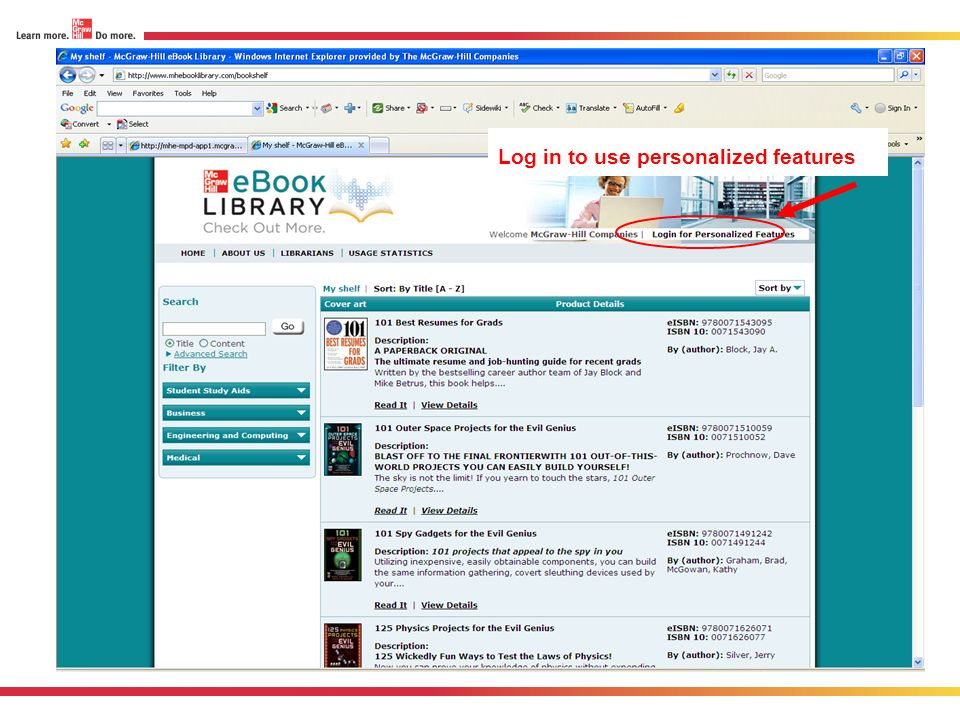 Log in to use personalized features