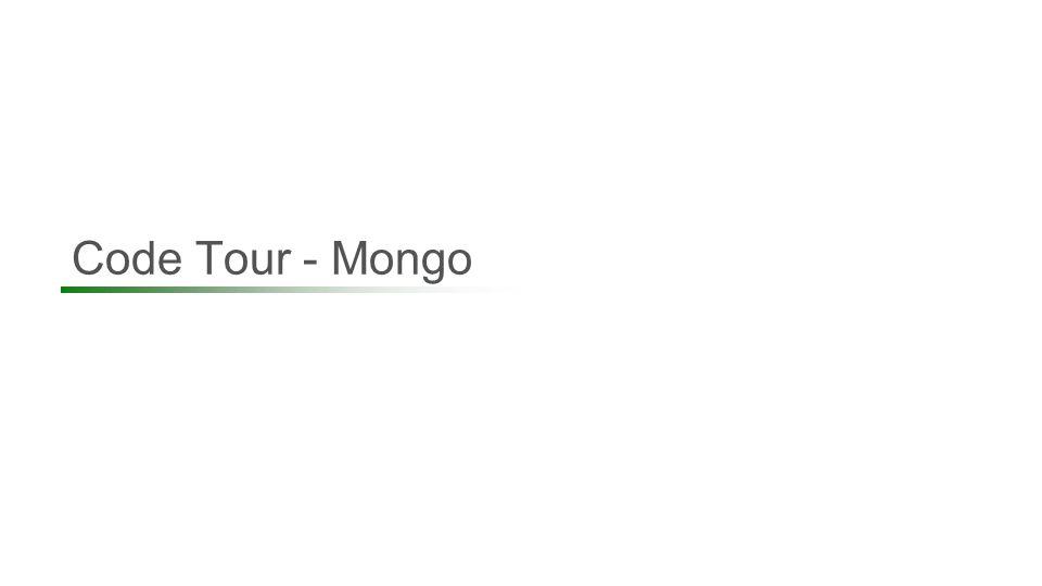 Code Tour - Mongo 76