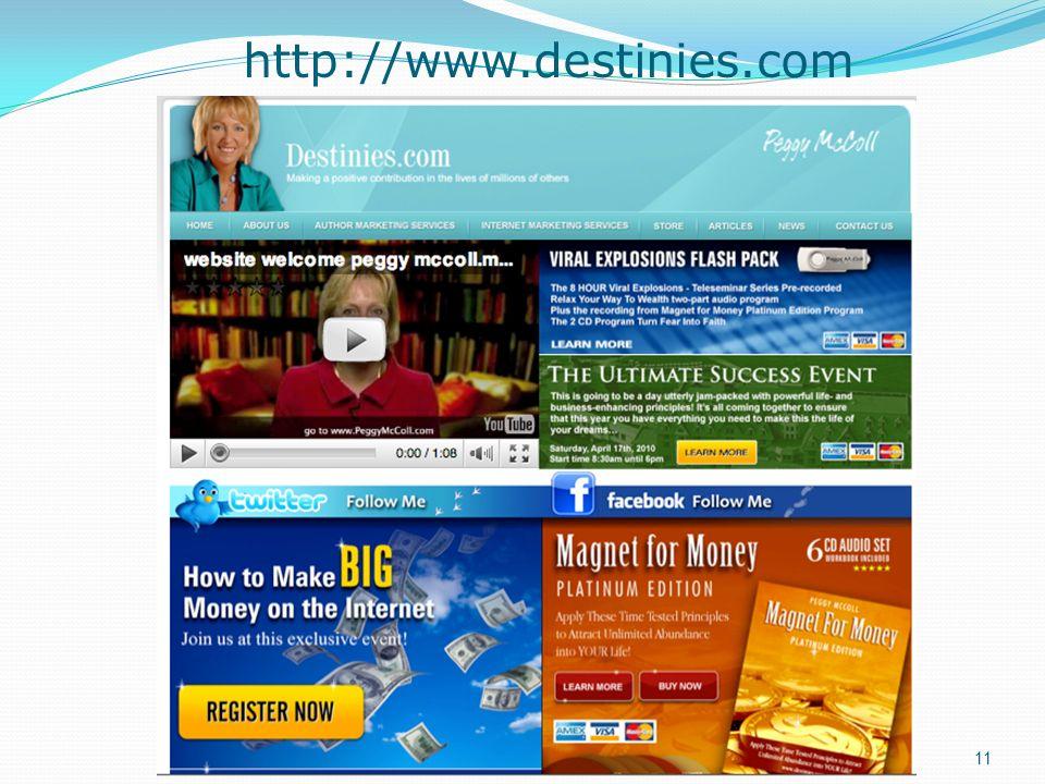 http://www.destinies.com 11