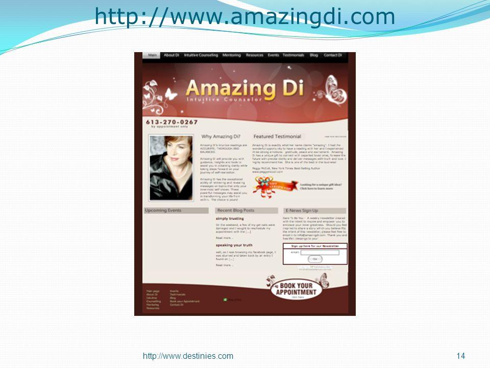 http://www.amazingdi.com http://www.destinies.com14