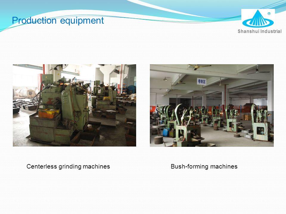 Centerless grinding machines Shanshui Industrial Production equipment Bush-forming machines