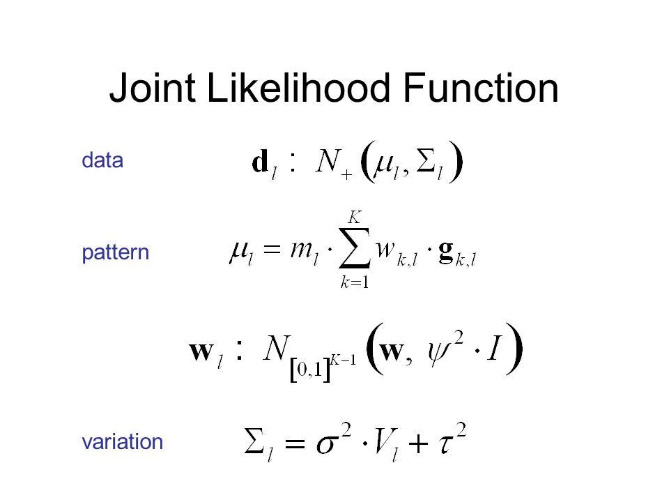 Joint Likelihood Function data pattern variation