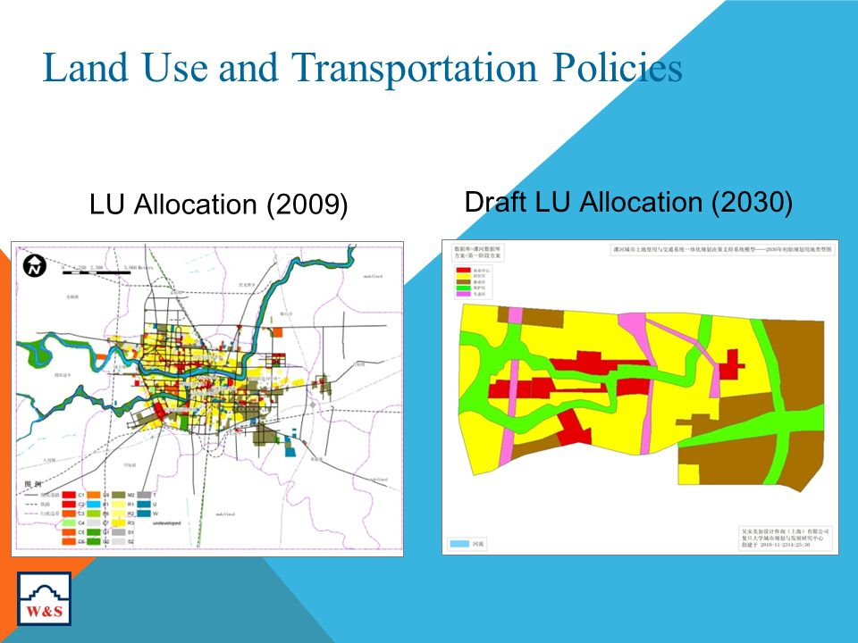 Land Use and Transportation Policies LU Allocation (2009) Draft LU Allocation (2030)