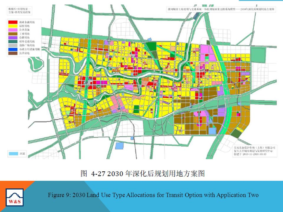 Figure 9: 2030 Land Use Type Allocations for Transit Option with Application Two