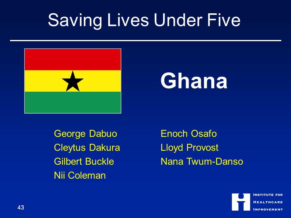 Saving Lives Under Five Ghana George Dabuo Cleytus Dakura Gilbert Buckle Nii Coleman Enoch Osafo Lloyd Provost Nana Twum-Danso 43