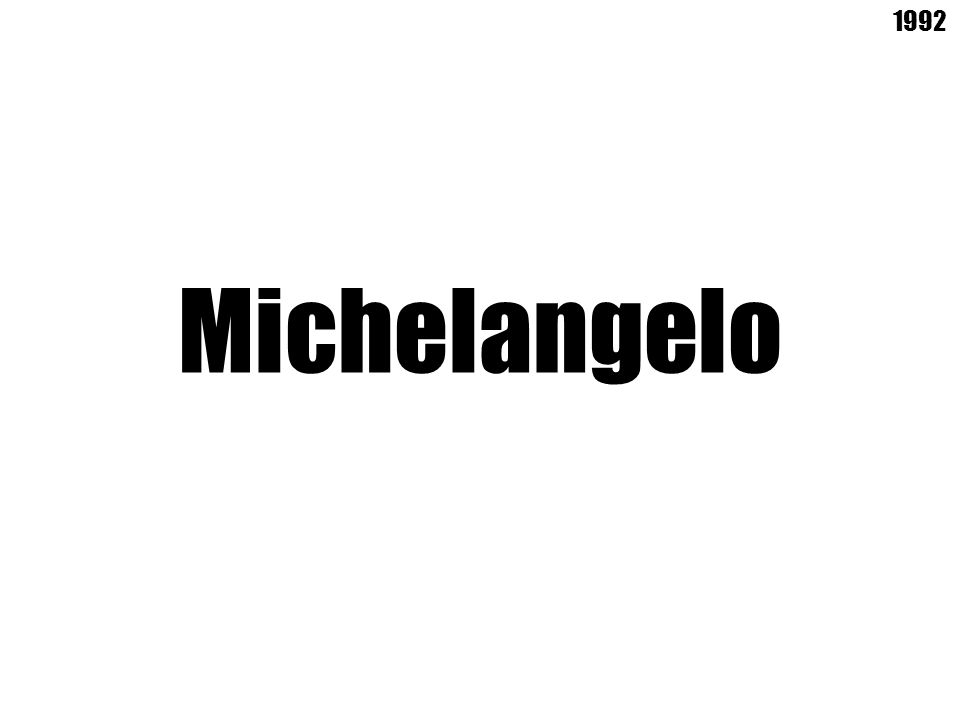 Michelangelo 1992
