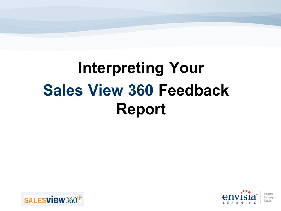 Interpreting Your Sales View 360 Feedback Report