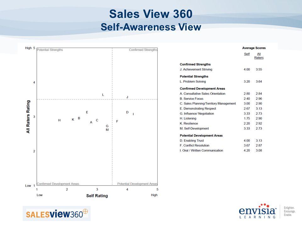 Sales View 360 Self-Awareness View