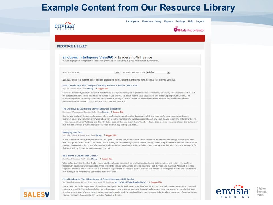 Example Content from Our Resource Library
