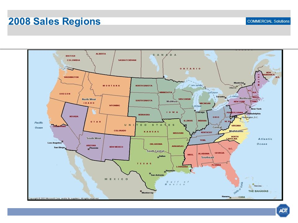 COMMERCIAL Solutions 2008 Sales Regions