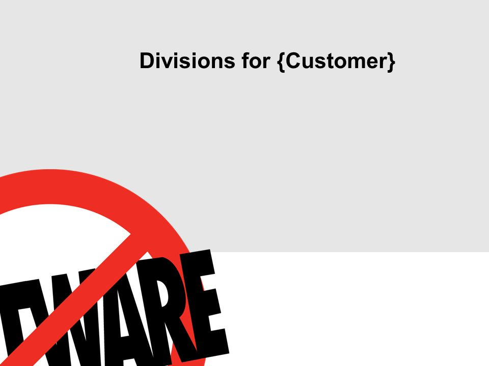 Divisions for {Customer}