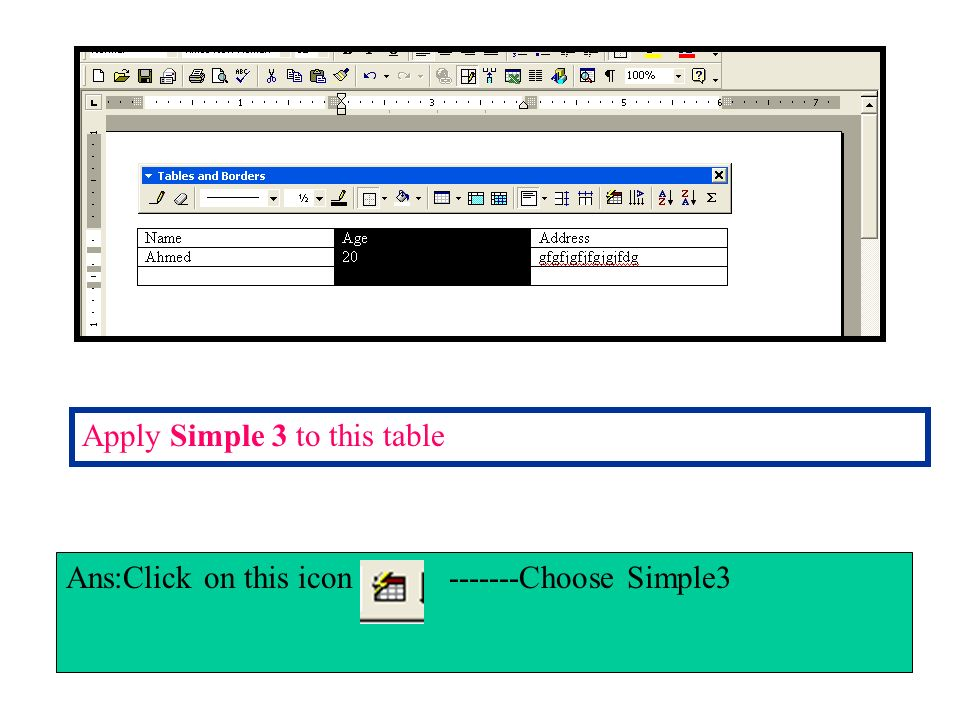 Change the line spacing for the selected text to 1.5 lines Ans:Format menu-----Choose paragraph------in Line Spacing section Select 1.5----Click ok.