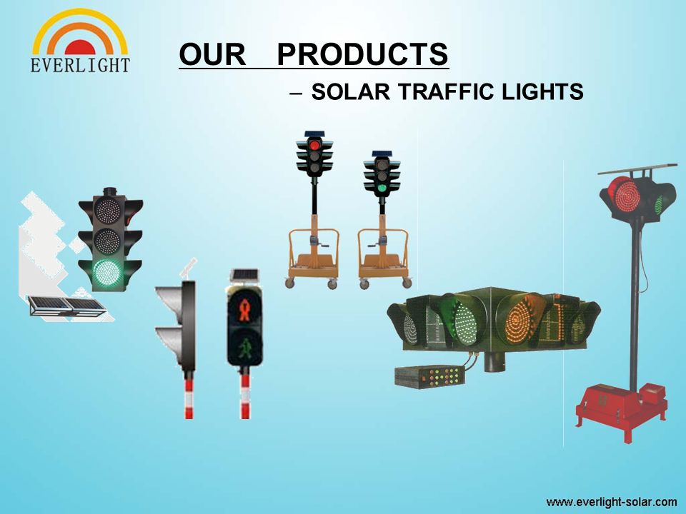 –SOLAR TRAFFIC LIGHTS OUR PRODUCTS