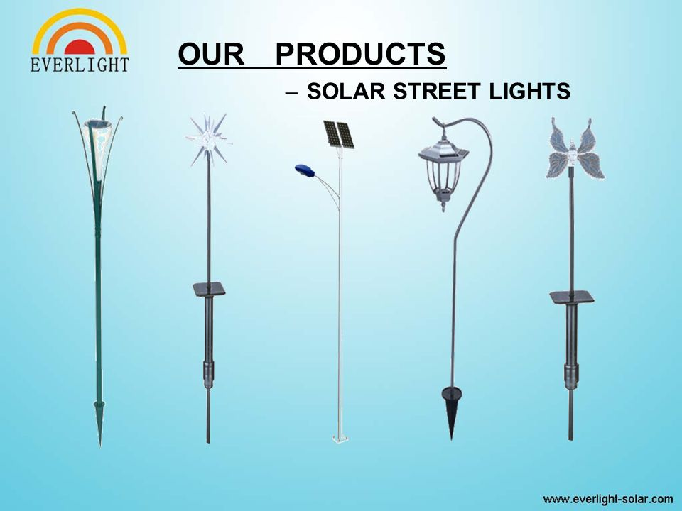 –SOLAR STREET LIGHTS OUR PRODUCTS
