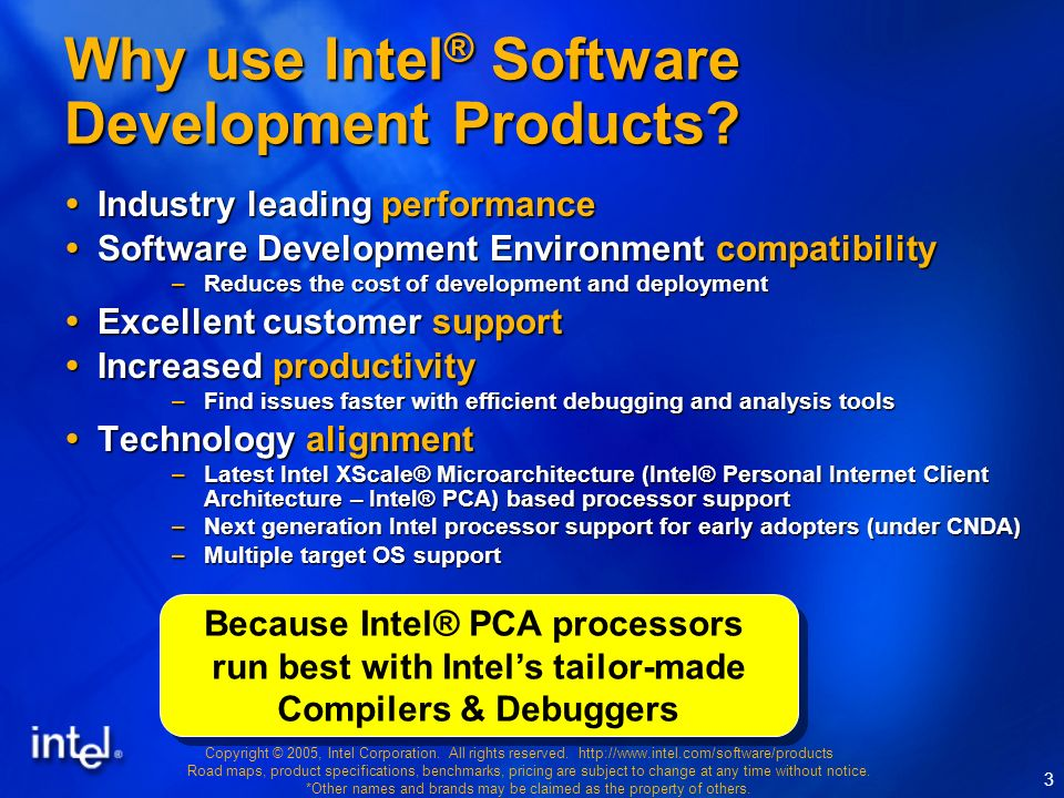 Copyright © 2005, Intel Corporation. All rights reserved.