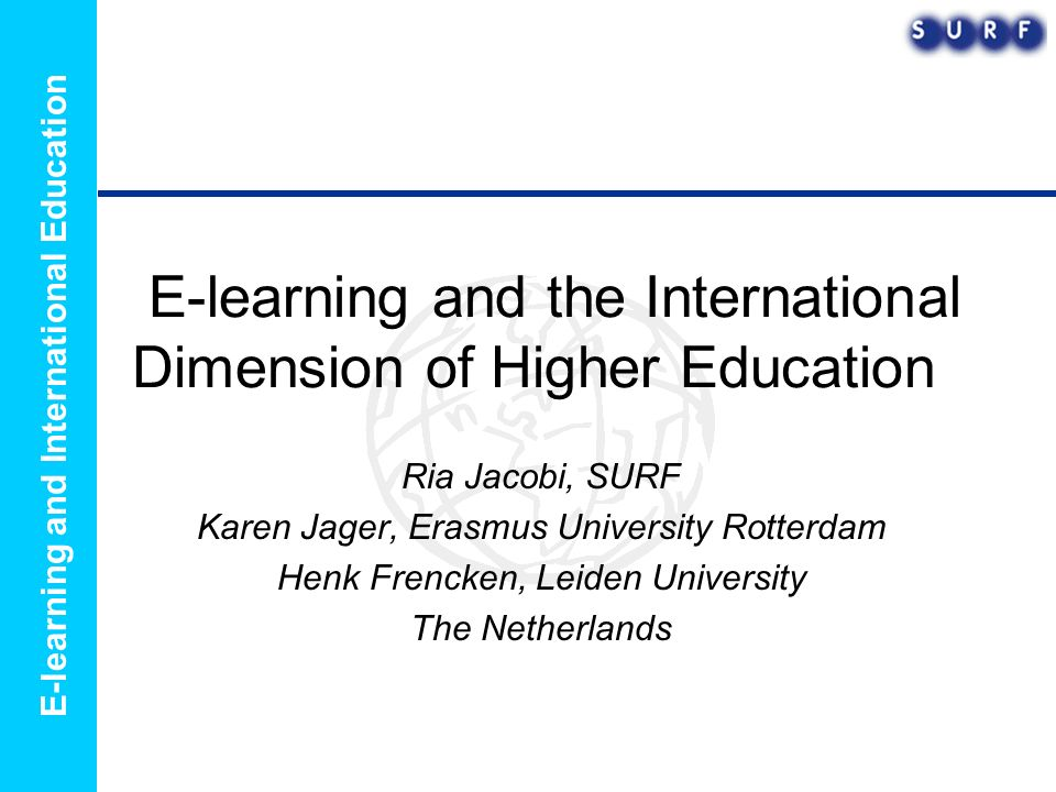 E-learning and International Education Practice example