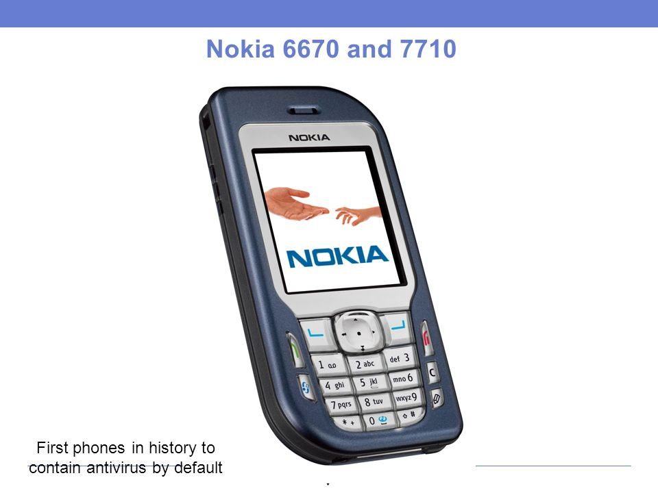 Nokia 6670 and 7710 First phones in history to contain antivirus by default