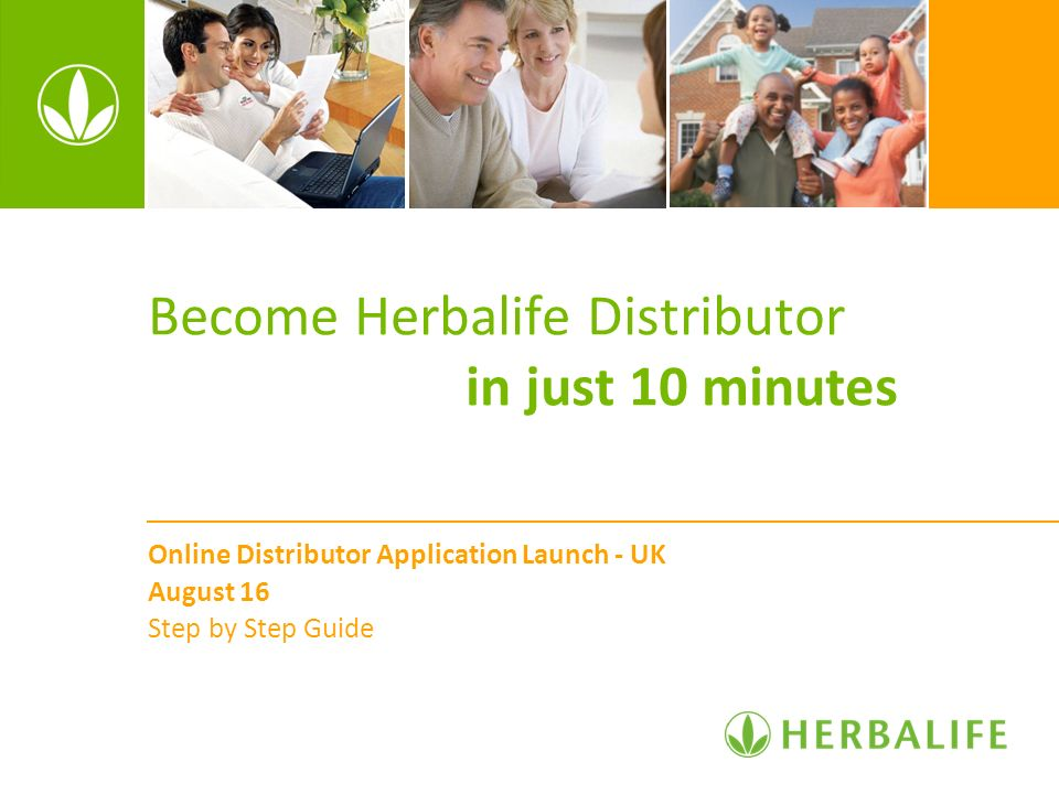 Become Herbalife Distributor in just 10 minutes Online Distributor Application Launch - UK August 16 Step by Step Guide