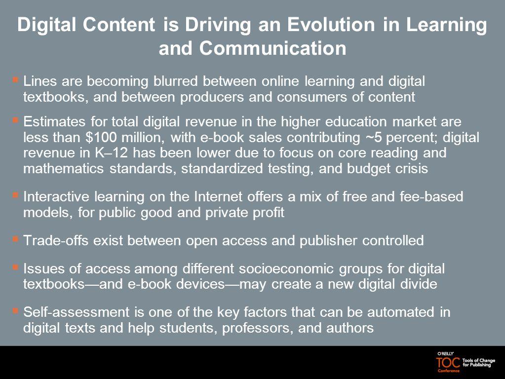 Peering Into the E-Textbook Future