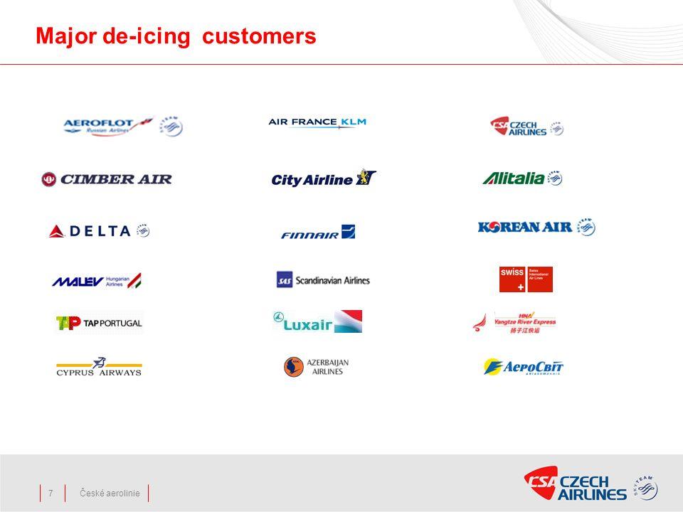 České aerolinie Major de-icing customers 7