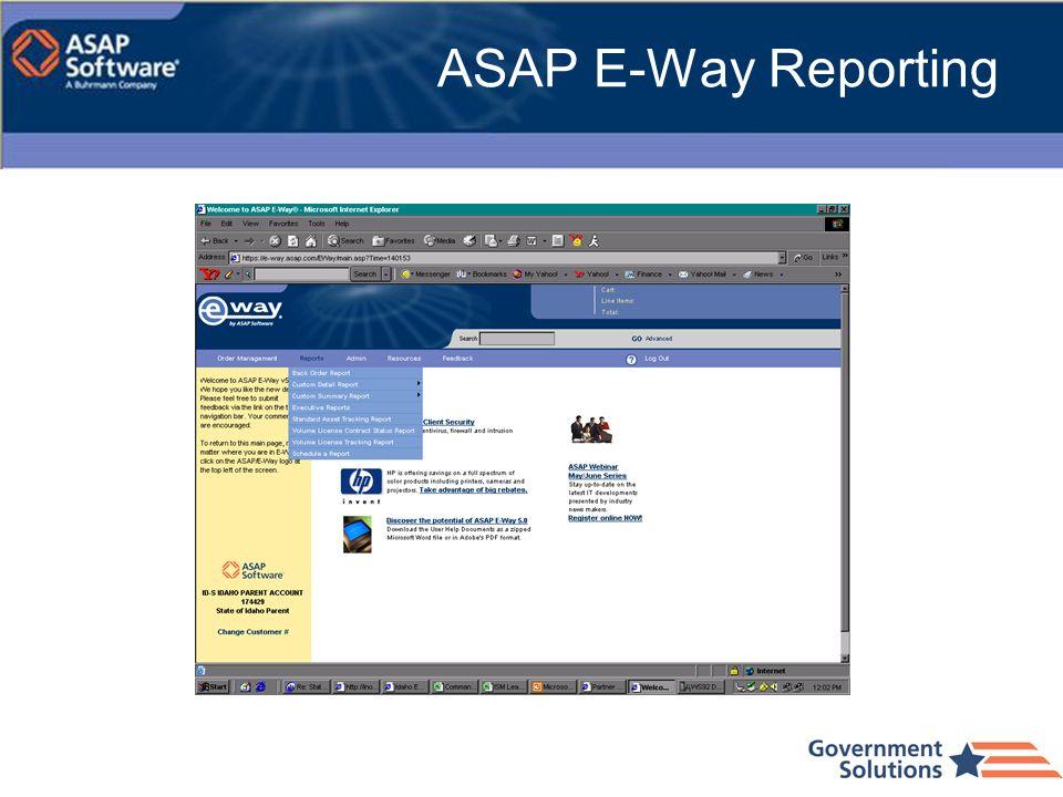 ASAP E-Way Reporting