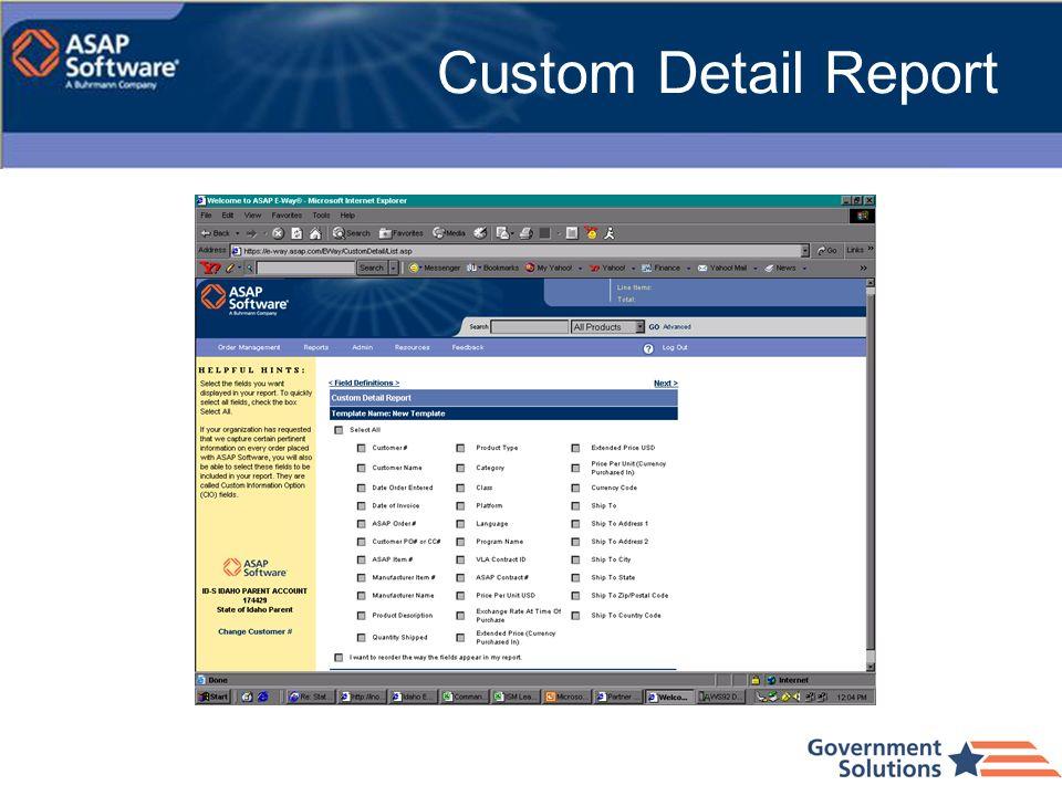 Custom Detail Report