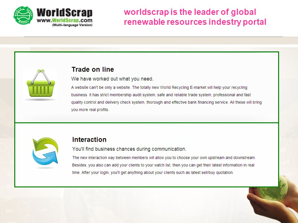 WorldScrap worldscrap is the leader of global renewable resources indestry portal