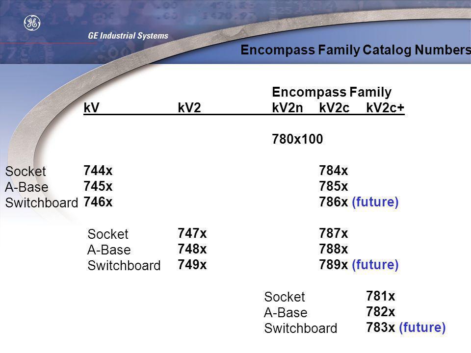 Encompass Family kVkV2kV2nkV2ckV2c+ 780x100 744x784x 745x785x 746x786x (future) 747x787x 748x788x 749x789x (future) 781x 782x 783x (future) Encompass